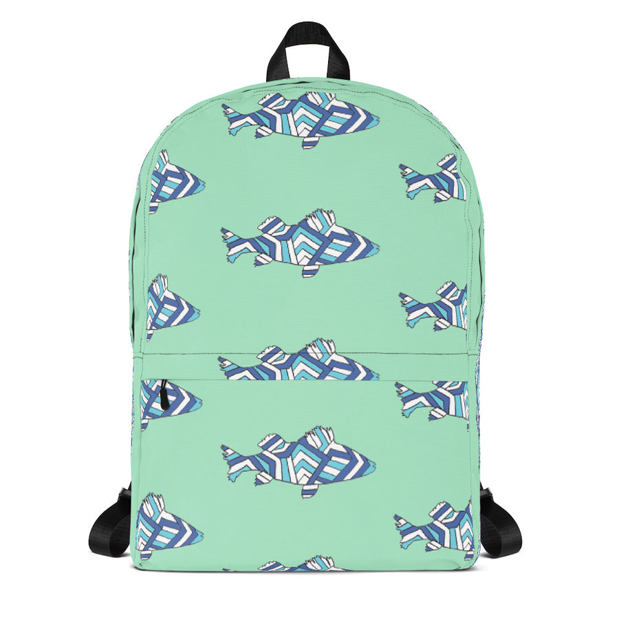 Seagreen Striped Perch Backpack