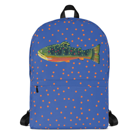 Periwinkle Brook Trout Backpack