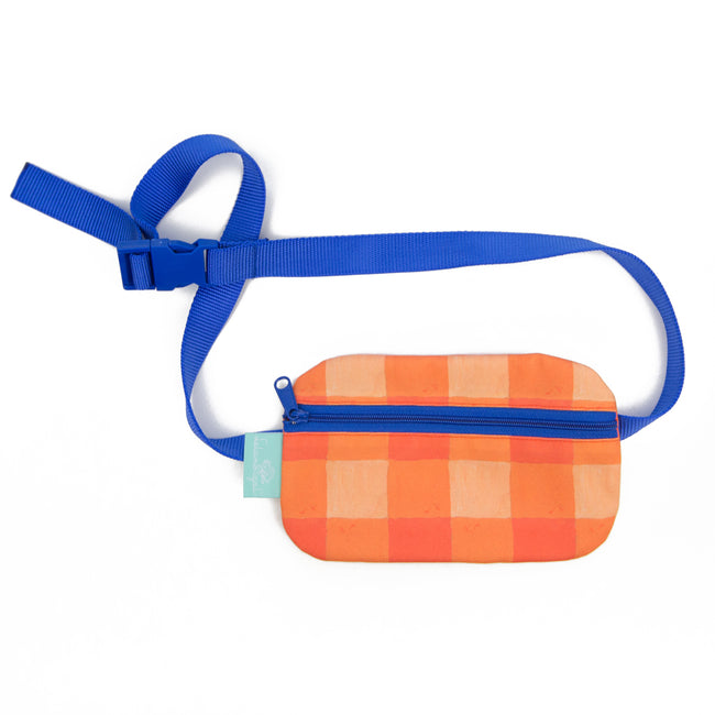 Citrus Buffalo Check Belt Bag