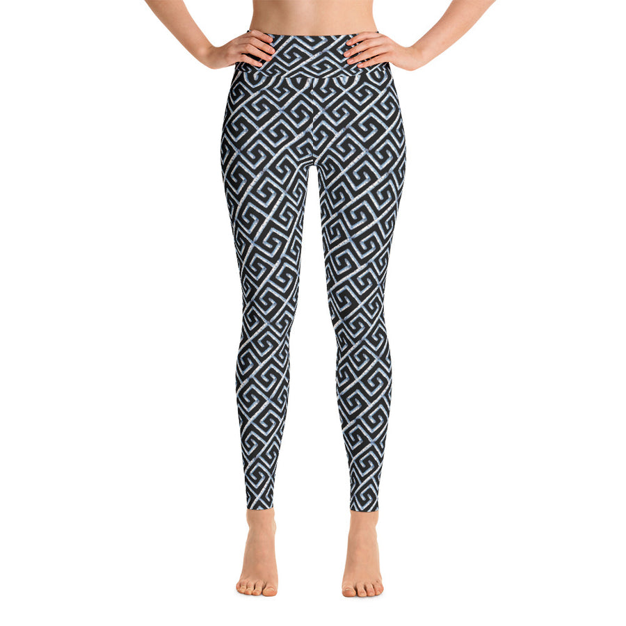Black Fancy Birch Key Leggings