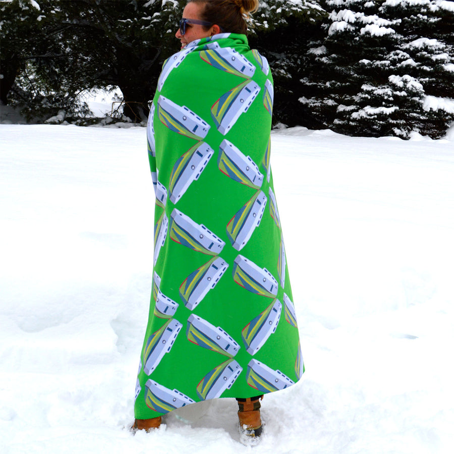 Emerald Tug Lattice Sherpa Blanket