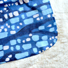 Deep Blue Glittering Diamonds Sherpa Blanket