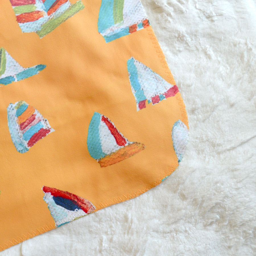 Sunshine Summer Sail Sherpa Blanket