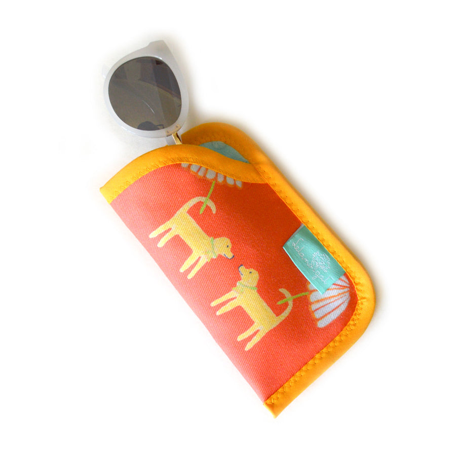 Grapefruit Dog Day Afternoon Sunglass Case