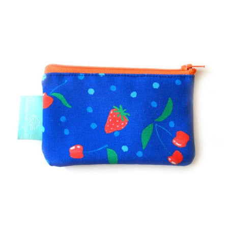 Sapphire Berries and Cherries Zippered Change Purse