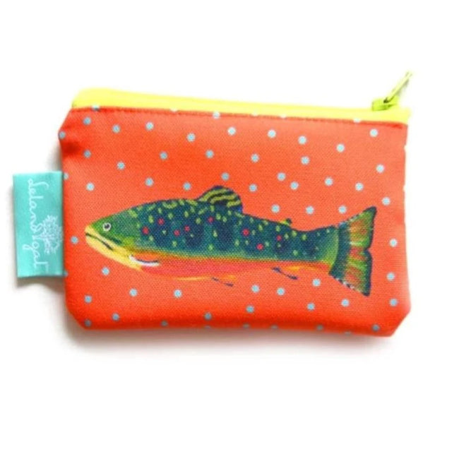 Grapefruit Brook Trout Zippered Change Purse