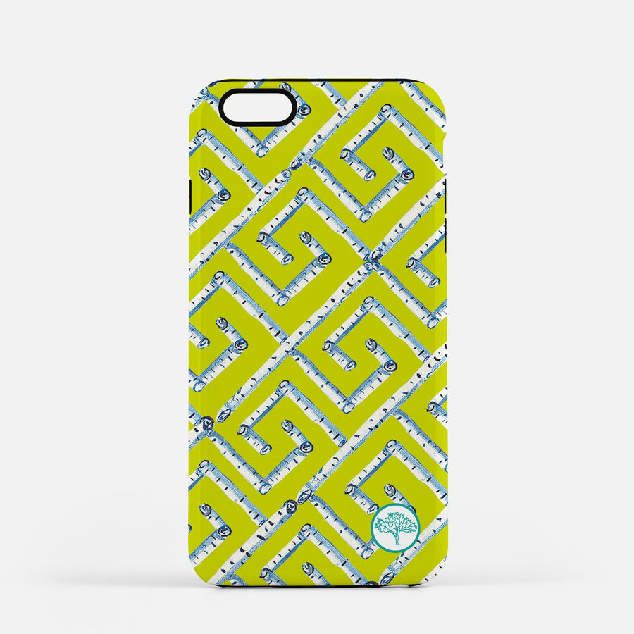 Citron Fancy Birch Key iPhone Case