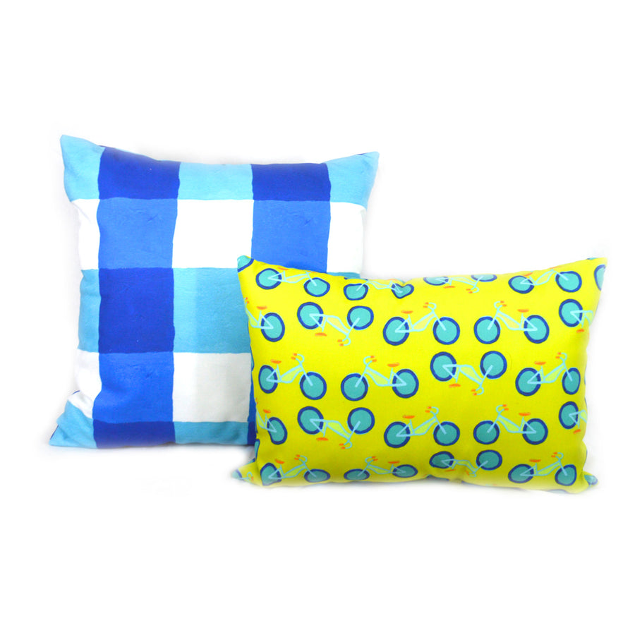 Citron Summer Bikes Outdoor Lumbar Pillow