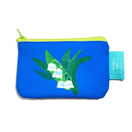 Cornflower Lilly Zippered Change Purse