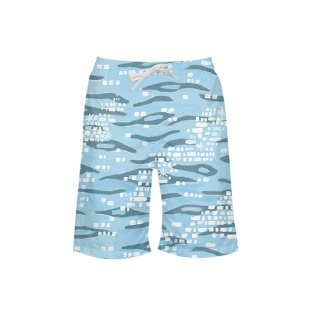 Sparkling Shoreline Boy's Swim Trunks