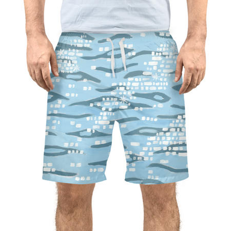 Sparkling Shoreline Men's Swim Trunks