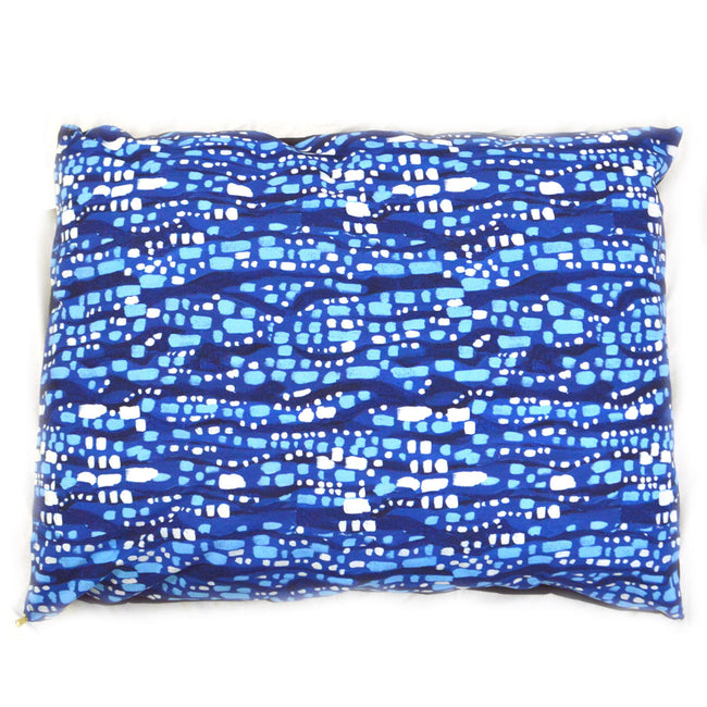Blue Glittering Diamonds Large Dog Bed