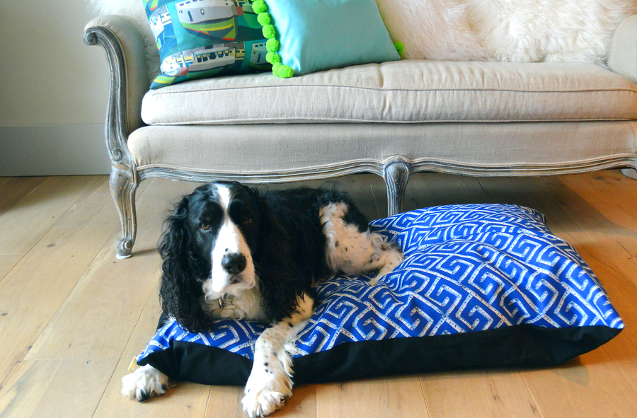 Blue Sapphire Key Large Dog Bed