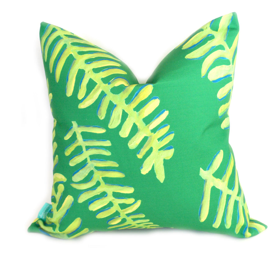 Emerald Floating Fronds Down Pillow