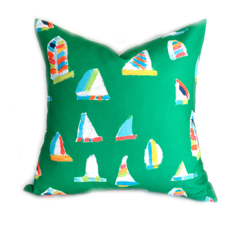 Emerald Summer Sail Down Pillow