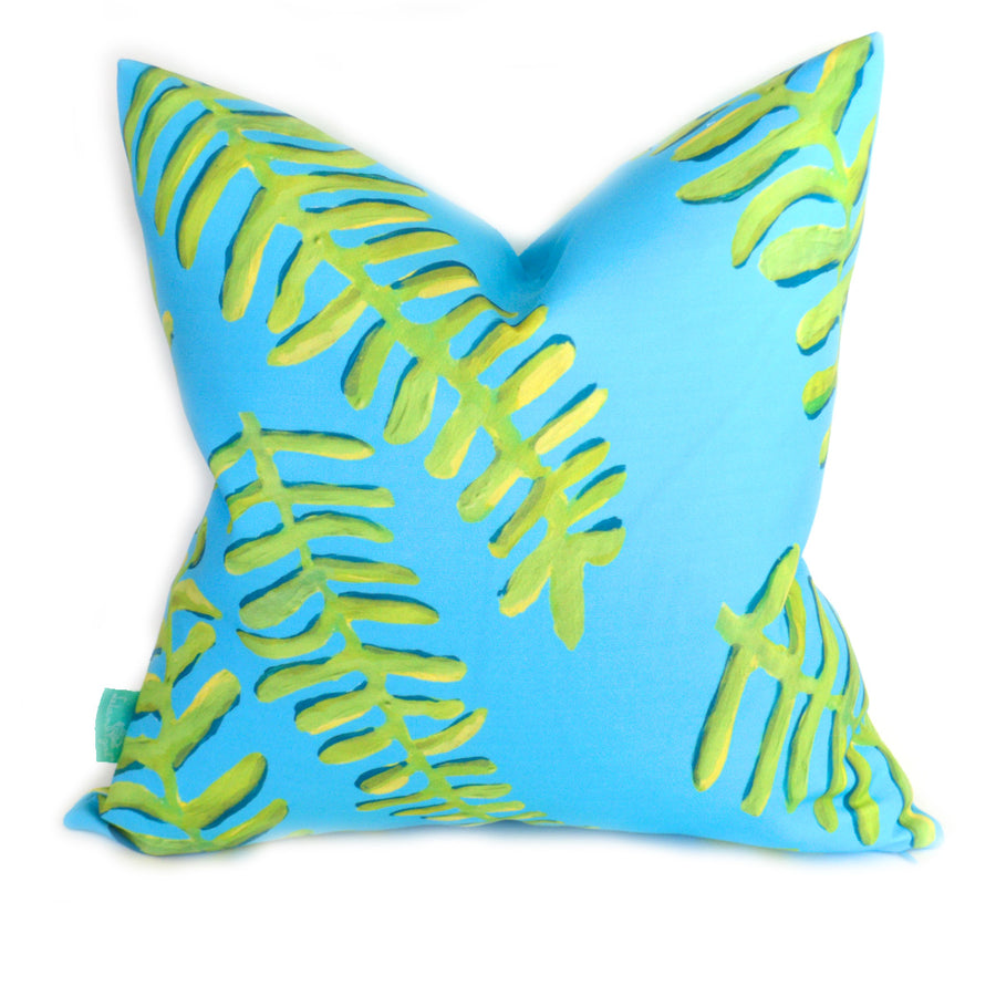 Surf Floating Fronds Down Pillow