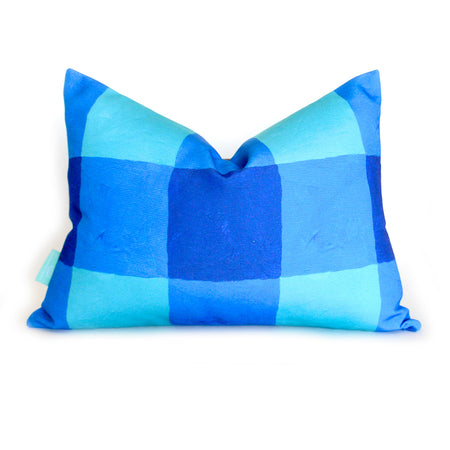 Lake Buffalo Check Lumbar Down Pillow