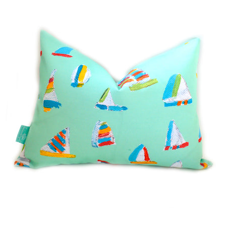 Seagreen Summer Sail Lumbar Down Pillow