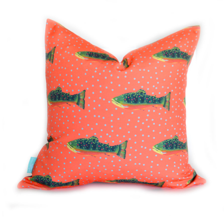 Grapefruit Brook Trout Down Pillow