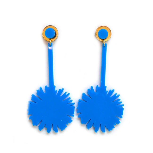 Sapphire Firework Drops Earrings