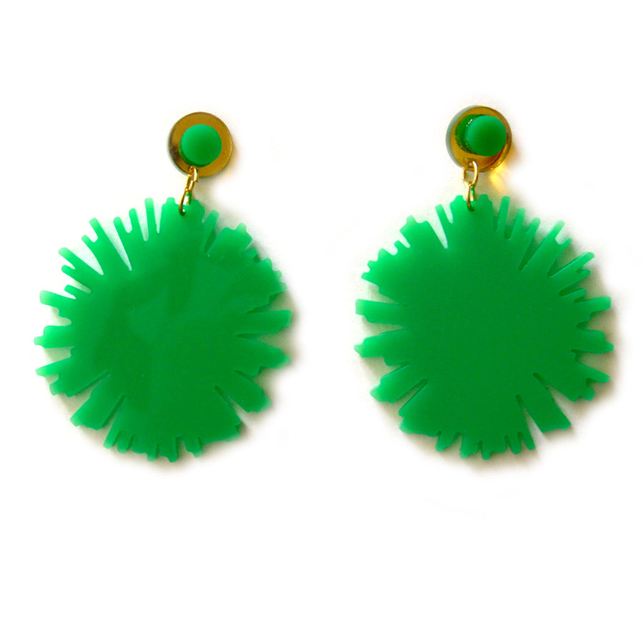 Emerald Firework Burst Earrings