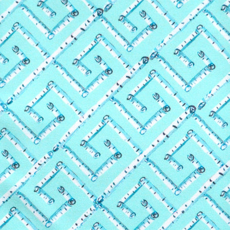 Aqua Birch Key Fabric