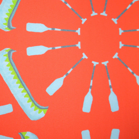 Coral Canoes Fabric