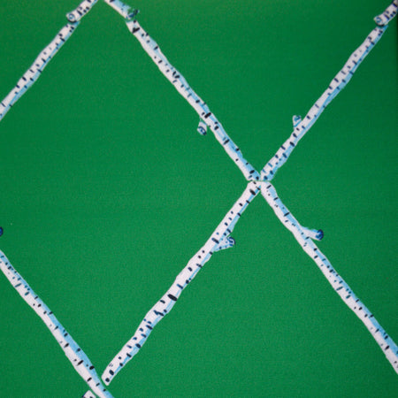 Emerald Birch Lattice Fabric