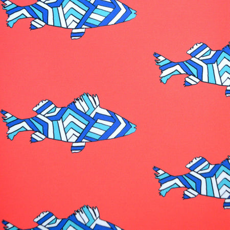Geranium Striped Perch Fabric