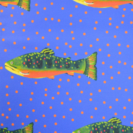 Periwinkle Brook Trout Fabric