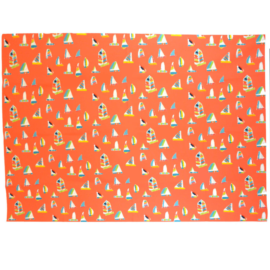 Coral Summer Sail Fabric