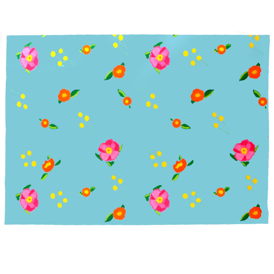 Robin Egg Katherine's Blooms Fabric