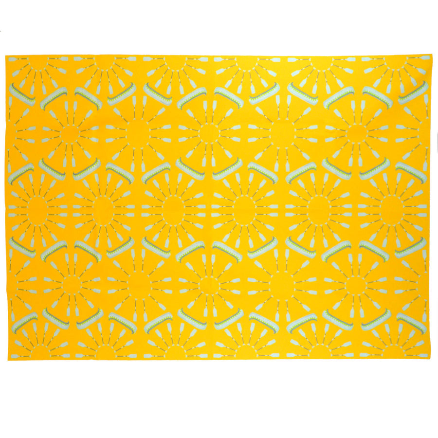 Yellow Canoes Fabric