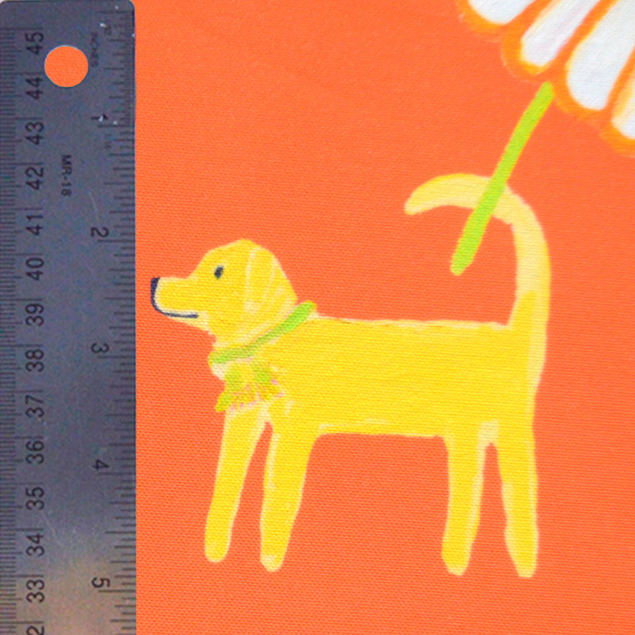 Grapefruit Dog Day Afternoon Fabric