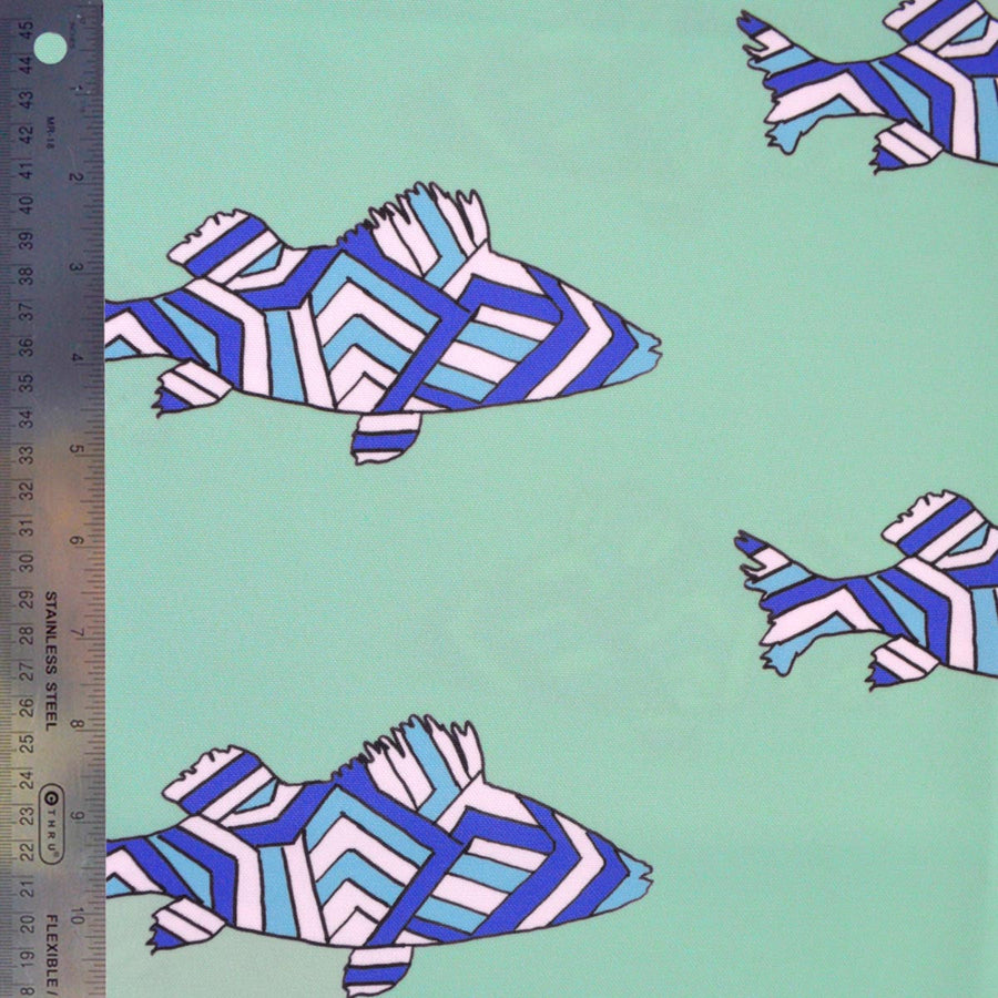Seagreen Striped Perch Fabric