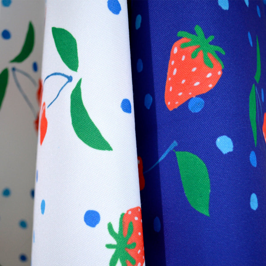 White Berries and Cherries Fabric