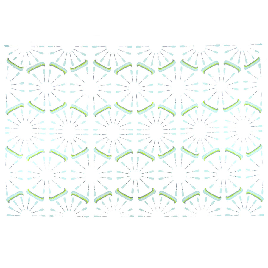 White Canoes and Oars Fabric