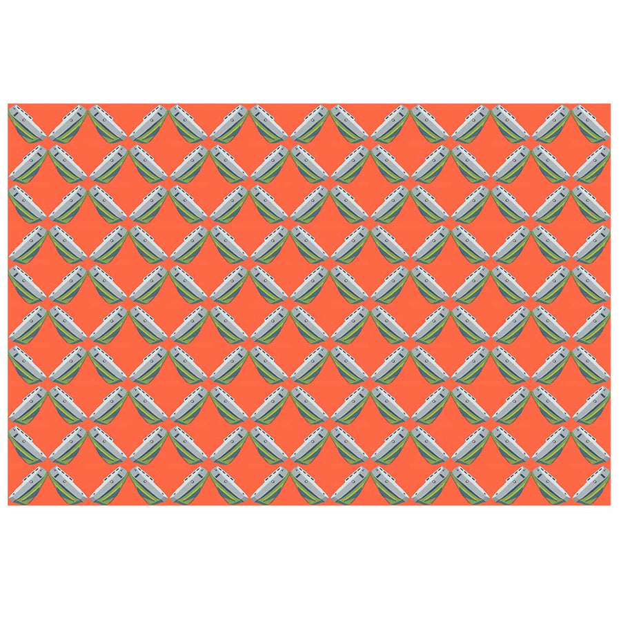 Grapefruit Tug Lattice Fabric