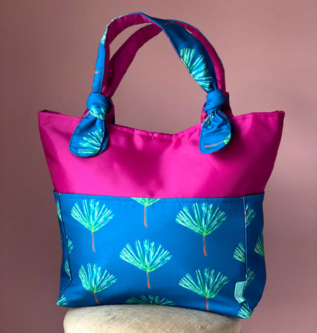 Fuchsia/Peacock Pines Outside Bag