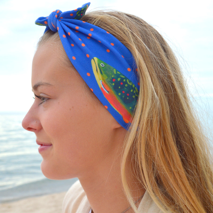 Periwinkle Brook Trout Headband