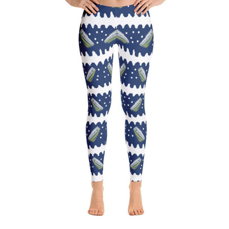 Junior Navy Tug Squiggle Leggings