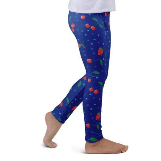 Sapphire Berries and Cherries Kids Leggings
