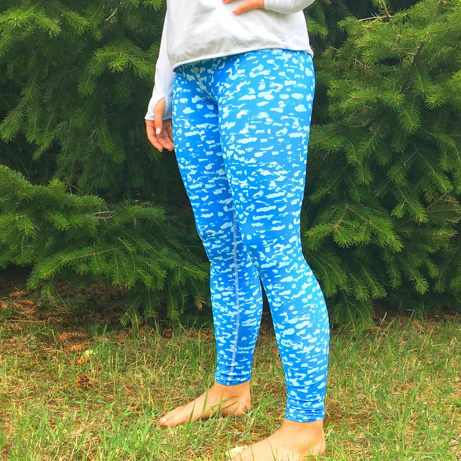 Blue Open Water Leggings