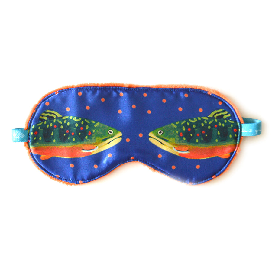 Sapphire Brook Trout Sleep Mask