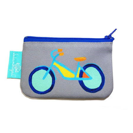 Mineral Summer Bike-Single Zippered Change Purse