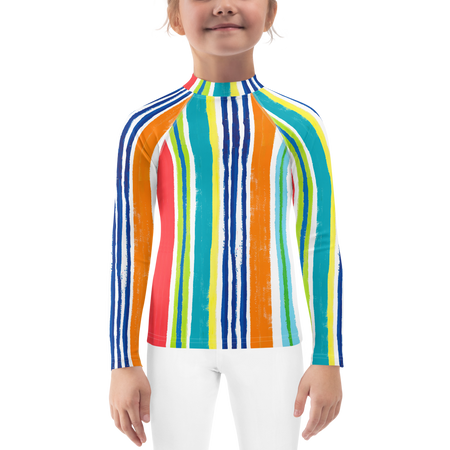 Leland Gal Stripe Kids Sun Shirt