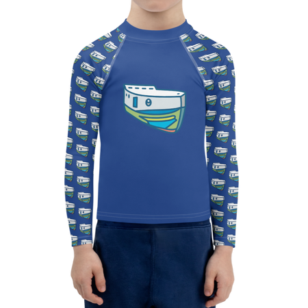 Navy NOPO Tug Kids Sun Shirt