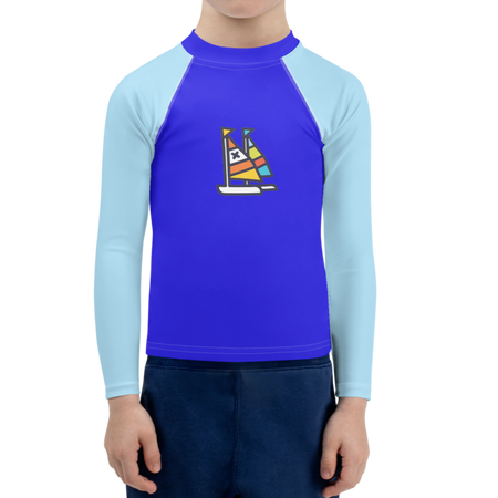 Sky Nopo Butterfly Boats Kids Sun Shirt