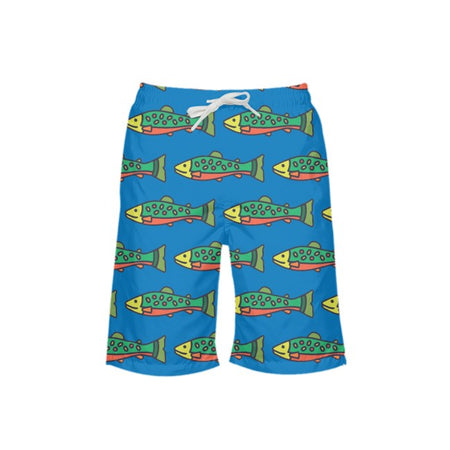 Cornflower NOPO Trout Boy's Swim Trunks