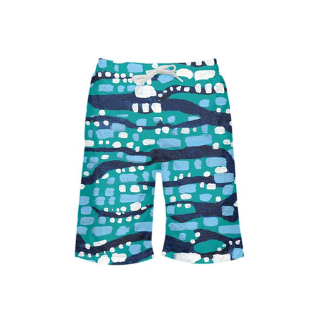 Jade Glittering Diamonds Boy's Swim Trunks